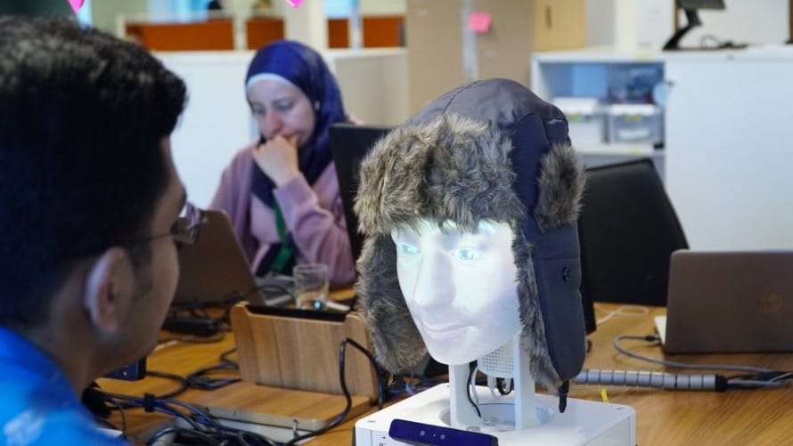 DNB Norway offers work placement programmes with Furhat Robotics for Syrian refugees