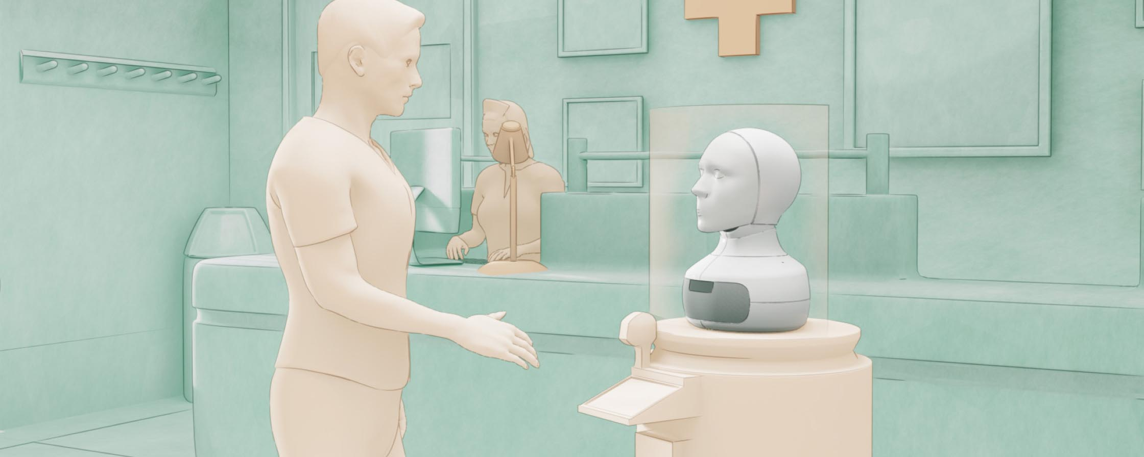How can social robots relieve healthcare providers under pressure?